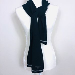 Coach Merino Wool Men's Black Scarf